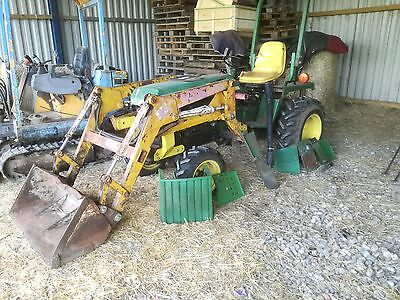 John Deere 855 Compact Tractor With Loader and Backhoe 4WD NO VAT