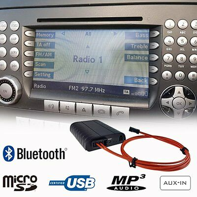 Bluetooth A2DP Handsfree Adapter USB SD Car Kit Mercedes Benz Audio 20 50 Comand