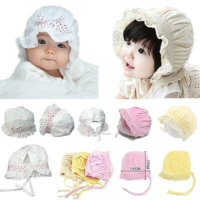 Summer Newborn Baby Girls Kids Princess Infant Flower Sun Cap Cotton Bucket Hat