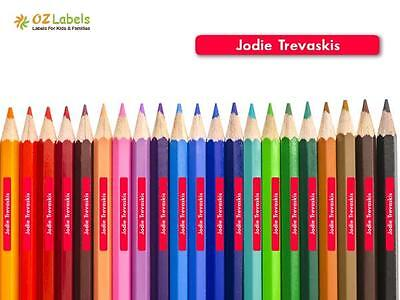 Pencil Name Labels / Stickers for Kids, Tiny Size - Oz Labels