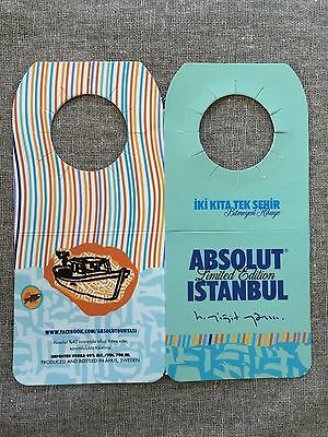 Absolut Vodka Istanbul Tag * New & Collectors Mint * Selten & Rare
