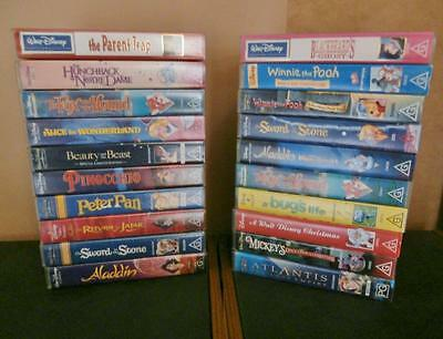 Walt Disney VHS Collection -  Beauty and the Beast, Aladdin + MORE