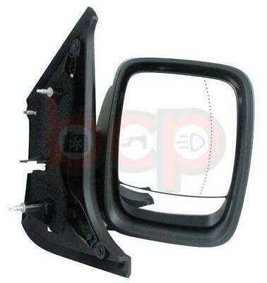 Vauxhall Vivaro 2014 On Door Wing Mirror Driver Side Rh Electric Black Cover New