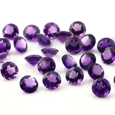 Purple Natural Amethyst AAA Quality 2 mm Round 10 pcs Loose gemstone