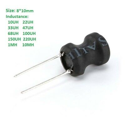 8 x 10mm 10UH to 10MH Radial Ferrite Choke Inductor Word inductance
