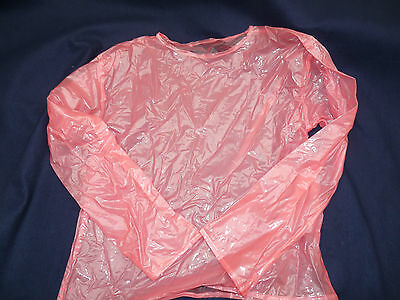 silky smooth PVC long sleeve top 220 micron heavy material slocky 44 chest