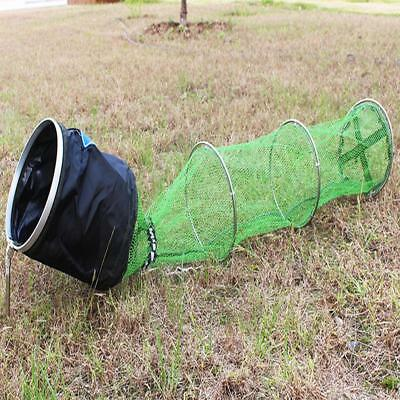 2.2m Collapsible Long Fishing Keeping Net Shrimp Minnow Trap Dip Net Cage