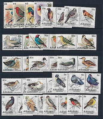 1981-1982 Aitutaki Birds Complete Set Of 36 Fine Mint Mnh/muh