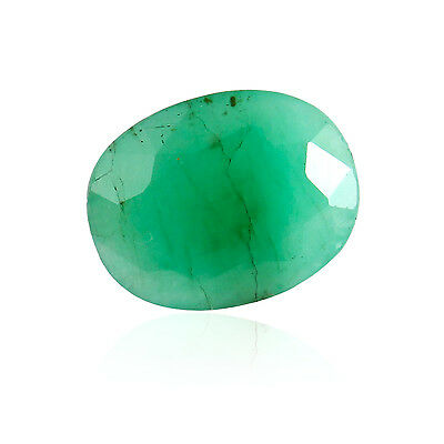 Light Green Color Faceted Oval Shape Natural Brazilian Emerald