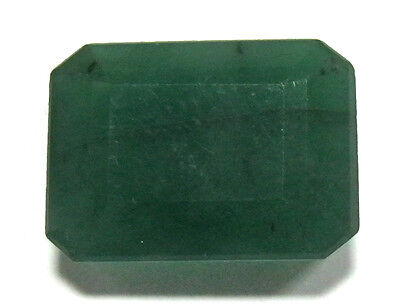 Green Color Faceted Radiant Shape Natural Brazilian Emerald