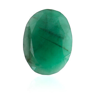 Green Color Faceted Oval Shape Natural Brazilian Emerald