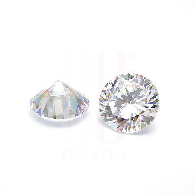 White Natural Natural Zircon AAA Quality 1.25 mm Round 50 pcs Loose gemstone