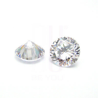 White Natural Natural Zircon AAA Quality 1.25 mm Round 10 pcs Loose gemstone