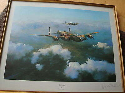 Lancaster by Robert Taylor signed by  Group Captain Leonard Cheshire