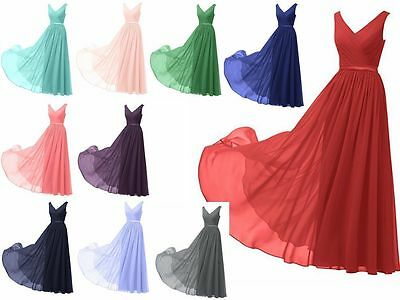 New Long Prom Dress Formal Evening Ball Gown Party Bridesmaid Stock Size 6-22