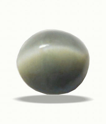 Be You 3.99 cts Greenish Grey Color Cabochon Round Shape Natural Indian Cats Eye