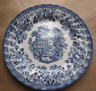 ASSIETTE PLATE FAÏENCE  ANGLAISE CHURCHILL made in STAFFORDSHIRE  d.25 cm