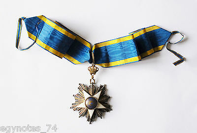 Egypt , Order Of The Nile 3Rd Class ( Commander )  King Fuad By Lattes , Rare