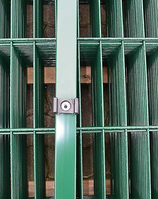 Post Green for Double Bar - Paling Fence Height 203cm + Accessories / Yard Gate