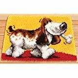 "Latch Hook Rug Kit""Dog and Bone"" 52x38cm"