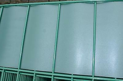 Polypropylene Privacy Strips Green Screen Opaque Double Rod Fence 35m
