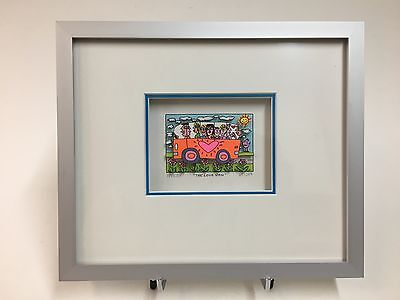 "***NEU*** James Rizzi, Original-3-D Grafik ""The Love Van"", inkl. Rahmung"