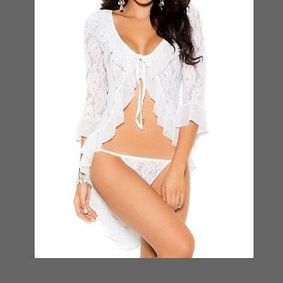 White Cape Style Camisole Lingerie Set -Will fit sizes S/M 8-10-12