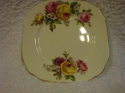 Queen Anne Manor Roses Bread and Butter Plate