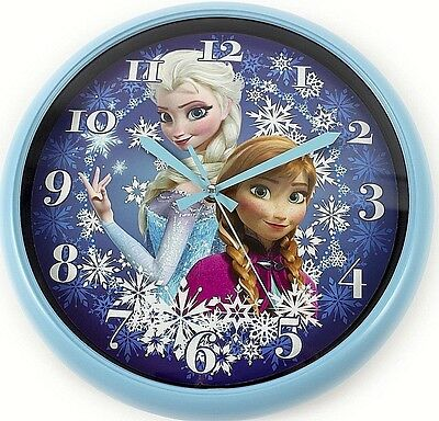 Official DISNEY FROZEN Anna & Elsa Wall Clock New 30cm Children's Kids Bedroom