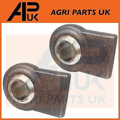 2X Tractor Lower Link Lift arm weld on ball end Cat 2 Category 28mm Hole Linkage