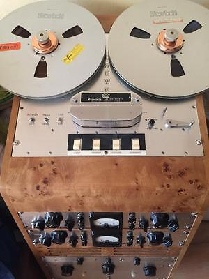"EXTINCT RARE HISTORICAL CROWN 1400 Tube Reel to Reel (1/4"") Tape Recorder"