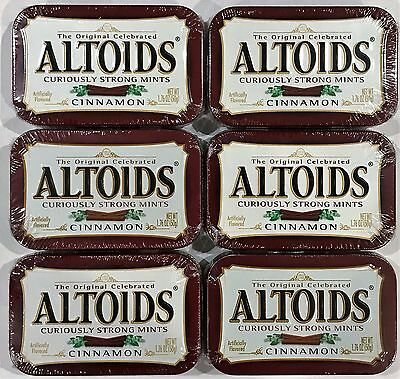 901863 6 x 50g TINS OF ALTOIDS CURIOUSLY STRONG MINTS, CINNAMON FLAV. - USA