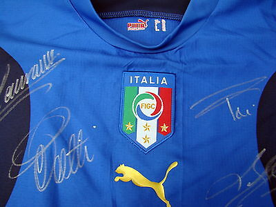 Italy 2006 Signed World Cup Shirt + Signed Squad Photo.Certs. of Authenticity