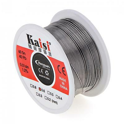 Kaisi Flux 1.2% Sn60 / Pb40 Tin Lead Solder Wire 0.4 0.5 0.6mm Welding Cable