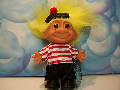 "AROUND THE WORLD FRANCE - 5"" Russ Troll Doll - NEW IN ORIGINAL WRAPPER"