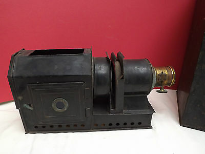 Projector (Lantern Projector) Lacquered Brass & Tin (+ Case) C1880