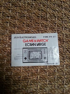 Rare notice FR Game & Watch Fire FR-27 nintendo and