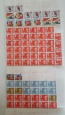 80 x 1st CLASS LARGE SECURITY STAMPS UNFRANKED WITH GUM FACE VALUE £76 EASY PEEL