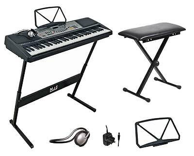NJS 61 Key Full Size Digital Electronic Keyboard Kit With Stool & Headphones