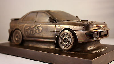 Limited Edition Bronze Subaru Impreza rally team 555 collectible ornament McRae