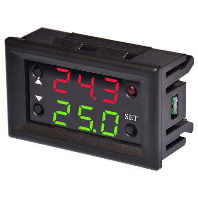 W1220 Digital Thermostat 12V + NTC Sensor Einstellbar Temperaturregler Schalter