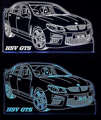 Holden 2013 HSV GTS LED Remote Control Edgelit Sign