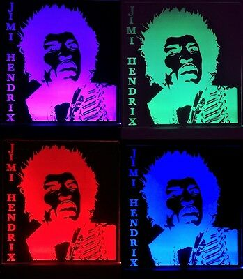 Jimi Hendrix LED Remote Control Edgelit Sign