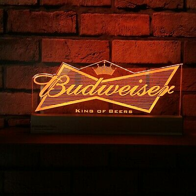 Budweiser Logo LED Remote Control Edgelit Sign