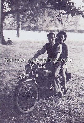 VINTAGE MOTORCYCLE, Royal Enfield JYF 301, White Waltham - 1949 - 6 x 4 photo