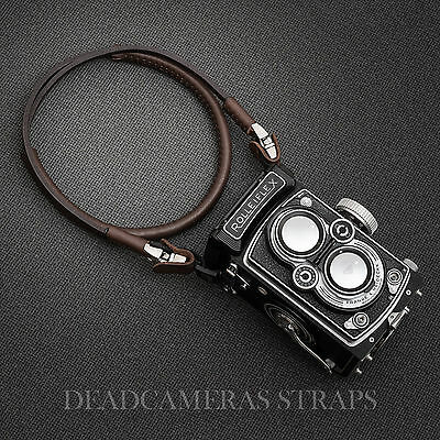 Rolleiflex TLR Limited Edition camera strap/hand strap - BROWN LEATHER