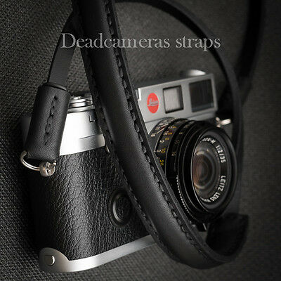 Compact  Leather Shoulder Strap for Leica, Fuji X, Olympus OMD - Deadcameras -