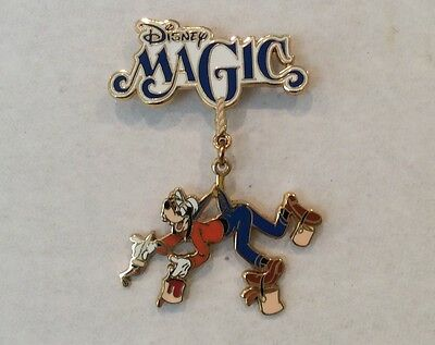 "Disney DCL Pin Goofy Painting on harness on  ""Magic"" Pin"
