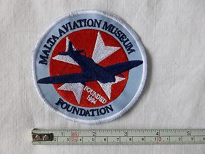 Malta Aviation Museum embroidered crest, new sew on badge patch.