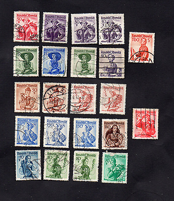 Various Used/Mint Vintage AUSTRIA Fashion Postage Stamps